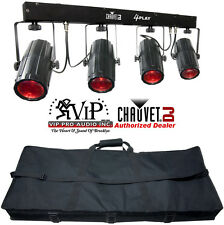Chauvet 4Play Portable DJ LED Light Bar Rotating Beams 6-Channels Of DMX Control
