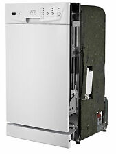 "Sunpentown 18"" Built-In Dishwasher with Energy Star - White SD-9252W"