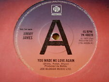 "JIMMY JAMES - YOU MADE ME LOVE AGAIN   7"" VINYL DEMO"