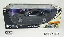 2003 Hot Wheels Metal BMW 645Ci 645 Ci Coupe 4.4l V8 Black Gray C7528 1/18 MINT!