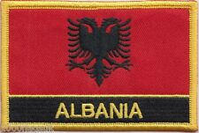 Albania Flag Embroidered Patch Badge - Sew or Iron on