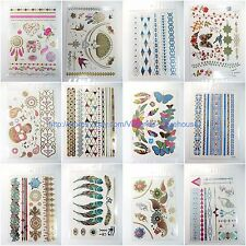 70 cent each, lot of 50  Sheets wholesale Metallic Gold Silver Temporary tattoos