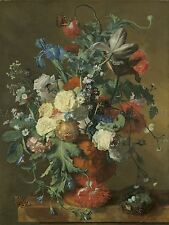 JAN VAN HUYSUM DUTCH FLOWERS URN OLD ART PAINTING POSTER PRINT BB5800A