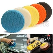 6 Inch (150mm) Sponge Polishing Waffle Buffing Pad Buff Kit For Car Polisher