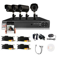 4CH H.264 Surveillance Outdoor HD 800TVL Home CCTV Security IR-Cut Video Camera