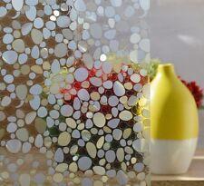 100 cm Sichtschutzfolie Fenster Folie selbstklebend Milchglasfolie Kieselsteine