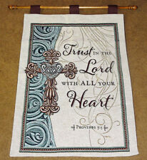 Trust In The Lord With All Your Heart ~ Inspirational Tapestry Wall Hanging