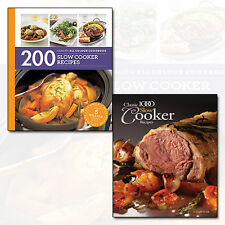 Classic 1000 Slow Cooker Recipes and 200 Slow Cooker 2 Books Collection Set NEW