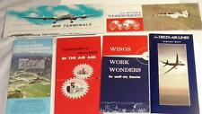 Delta Airlines,Thunderbirds,Air Terminals& more Airplane Advertisements Lot of 6