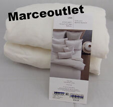Oake Bedding 100% Linen Collection KING Fitted Sheet White