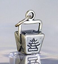 LOOK STERLING SILVER CHINESE FOOD TAKE-OUT BUFFET BOX CHARM