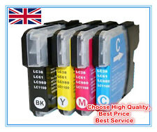 Full Set of Replacement Ink for BROTHER Printer DCP-165C DCP-195C (LC980 LC1100)