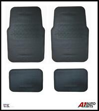 4 PCS UNIVERSAL BLACK RUBBER CAR MAT SET NON SLIP BUS MATS