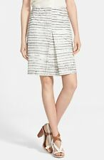 NWT Tory Burch Piece & Co Palma A-line Skirt Olive White $295 – Size 2