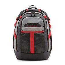 "Samsonite Grey/Red Outlab Brick Wall 15"" Laptop Padded Book Backpack 75585-2645"