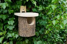 NATURAL LOG ROBIN NEST BOX Wildlife World Natural Open | FREE Fast Delivery!