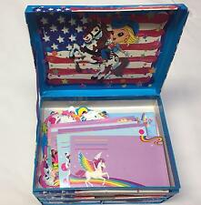 Vintage 1980's Lisa Frank stationary  box set colorful NICE + stationary cat dog