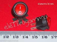 interruttore unipolare tondo  rosso 0/1  16 mm         2 pezzi