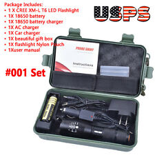 5000LM X800 Shadowhawk CREE T6 LED Flashlight Torches Lamp G700 Super Light Kits
