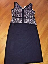 AA STUDIO for J CREW Sleeveless Lace Dress Womens Size 22W Long Black & NEW