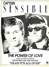 Captain Sensible : The Power Of Love Advert 11x8