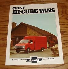 Original 1974 Chevrolet Hi-Cube Van Sales Brochure 74 Chevy