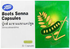 BOOTS Senna Leaves Natural Laxative Weight Loss Slimming Diet 30 Capsules