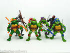 Set 6 x teenage mutant ninja turtles action figures with weapons 4 inch TMNT lot