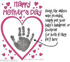 haz tu propio Día De La Madre Tarjeta su bebé Hijo Hija Huellas mano huellas