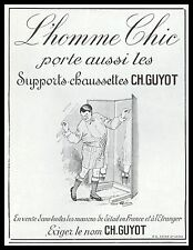 PUBLICITE  SUPPORTS- CHAUSSETTES CH. GUYOT UNDERWEAR  MEN AD  1929 -1H