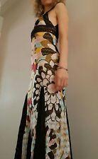 Auténtico MISSONI ORANGE LABEL Multicolor Vestido De Flores De Ganchillo UK10-12 ORP700