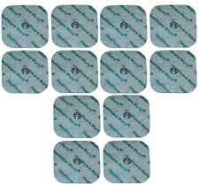 Healthcare World® TENS Electrode Square Studded Pads for Compex Machines x12
