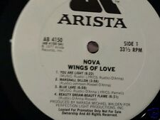NOVA Wings Of Love shrink italian prog jazz fusion psych white promo Mint c Lp