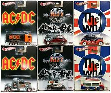 Hot Wheels 1/64 Set Of 6 2013 Pop Culture Kiss AC/DC The Who Case F X8308--956F