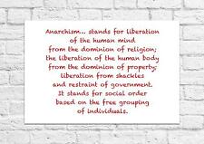 Sons Of Anarchy - Anarchism Quote - Emma Goldman - Unframed Print A4 Size