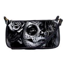 Rockabilly Lolita Goth Sugar Skull Girl Tattoo Small Shoulder Clutch Purse Bag