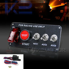 Racing Car Ignition Toggle Switch Engine Start Push Button Plane Board 12V LED