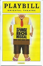 THE SPONGEBOB MUSICAL pre-Broadway Playbill + ad Chicago [SpongeBob Squarepants]