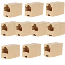 10XRJ45 Female to Female Network Ethernet LAN Connector Adapter Coupler Extender