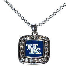 KENTUCKY WILDCATS SQUARE SHAPE NCAA Necklace Rhinestone Jewelry  New