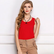 Summer Women Loose Casual Chiffon Sleeveless Vest Shirt Tops Blouse Ladies Top
