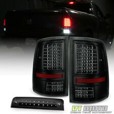 2009-2017 Dodge Ram 1500 10-17 2500 3500 LED Tail Lights+LED 3rd Brake Stop Lamp