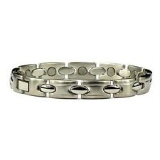 Emperor - Stainless Steel Magnetic Therapy Bracelet Silver Plated Braclet Magnet