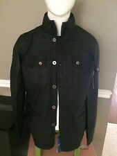$195 New Samsonite Men's Leather Jacket Black Size Small