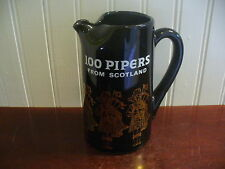 100 Pipers Scotland Whisky Advertising Bar Water Pitcher