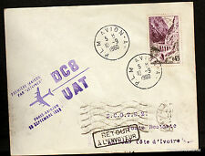 1960  DC8 UAT PARIS ABIDJAN    Airmail Aviation premier vol AC51