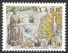 Aland 1995 St Olaf/Statue/Map/Sailing Ships/People/Transport 1v (n41367)
