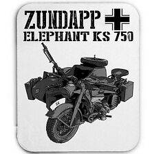 ZUNDAPP ELEPHANT KS 750 GERMANY WWII - MOUSE MAT/PAD AMAZING DESIGN