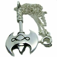 Gay Pride Solid Sterling Silver Pendant with 20 Inch Chain Labrys with Design