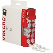 """VELCRO Brand - Sticky Back - 3/4"""" Coins, 200 Sets - White, New, Free Shipping"""
